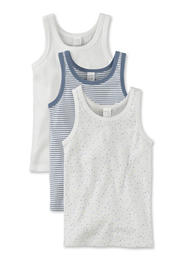 Kinder Unterhemd im 3er-Set aus reiner Bio-Baumwolle