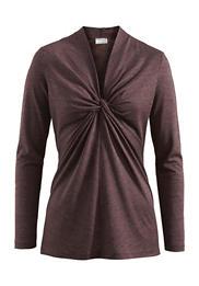 Langarm-Shirt aus Bio-Schurwolle mit Seide