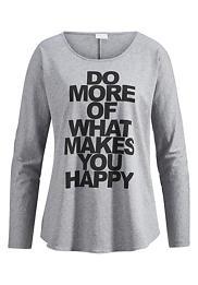 Shirt mit Statement-Print auf reiner Bio-Baumwolle