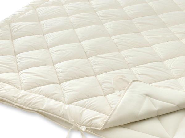 4-Jahreszeiten-Bettdecke Bio-Schurwolle zum Wenden