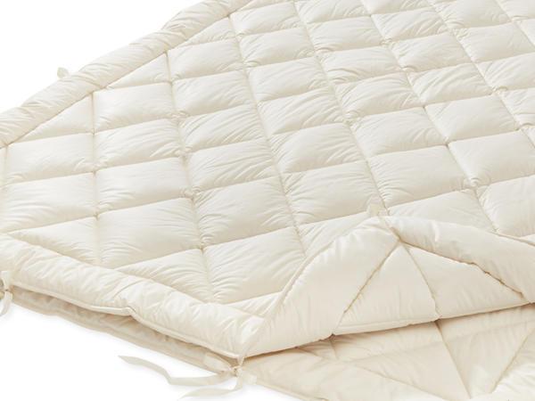 4-Jahreszeiten-Bettdecke mit reiner Bio-Schurwolle