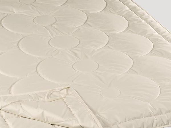 4-Jahreszeiten-Decke Tussah Seide und Schurwolle