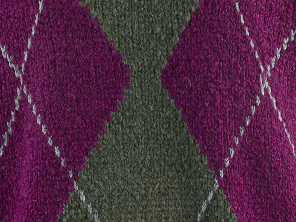 Argyle-Pullover aus Schurwolle mit Alpaka