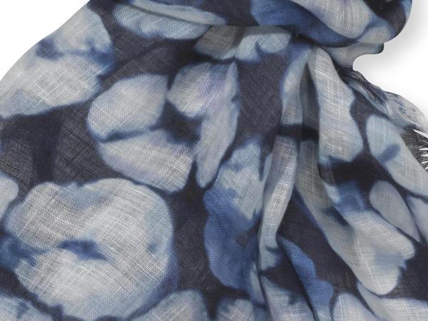 Batikschal aus reinem Leinen