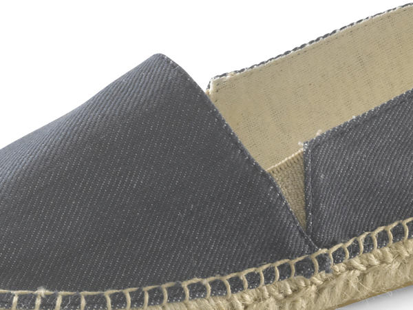 Bed-recycling espadrilles made from organic denim