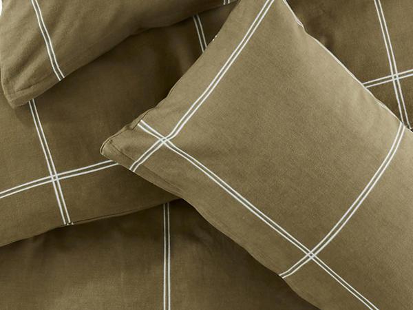 Biber-Bettwäsche Quadro aus reiner Bio-Baumwolle