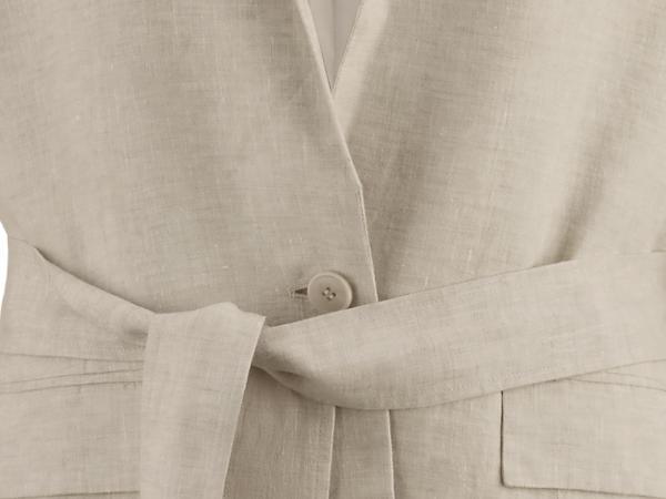 Blazer made from pure organic linen