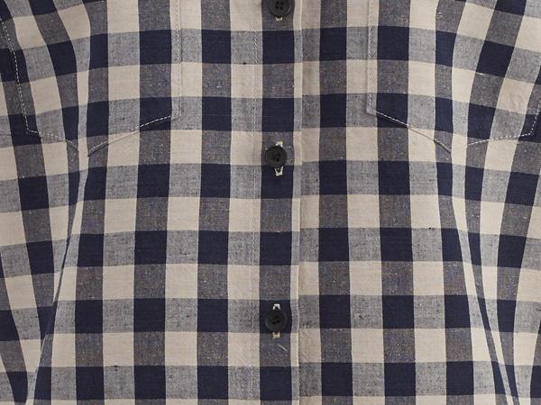 Bluse aus Bio-Baumwolle und Leinen