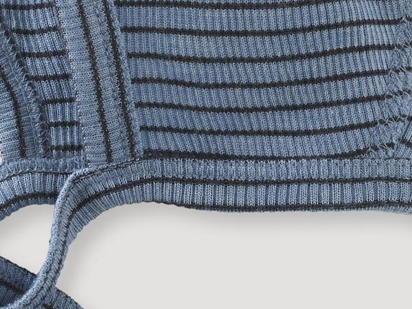 Bonnet made from organic merino wool and silk