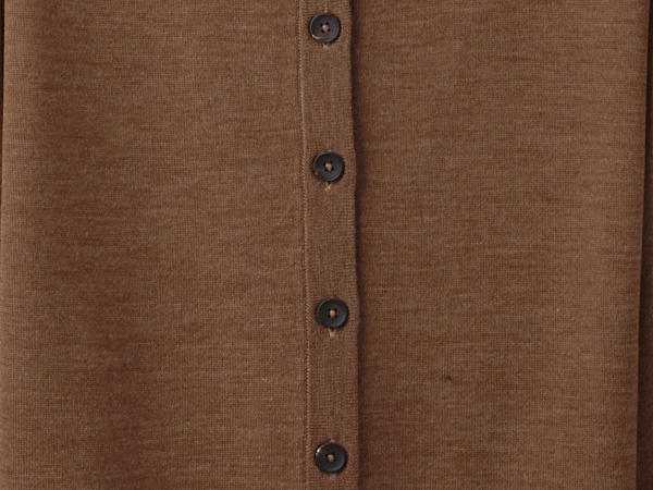 Cardigan made from pure organic merino wool