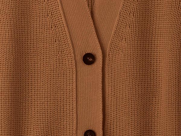 Cardigan made of organic cotton and organic new wool