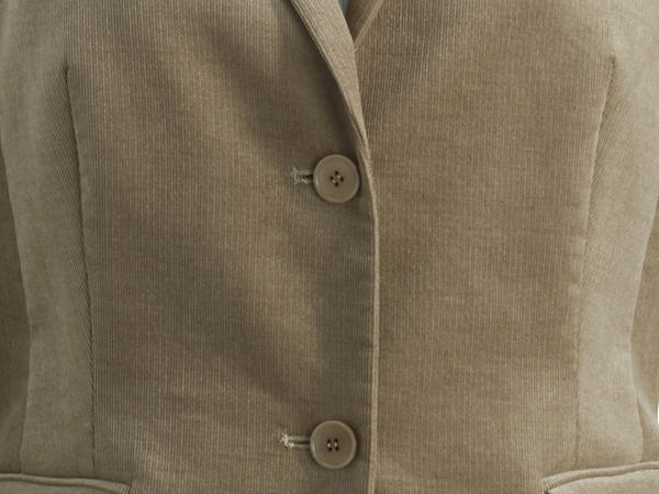 Cord-Blazer aus Bio-Baumwolle mit Modal