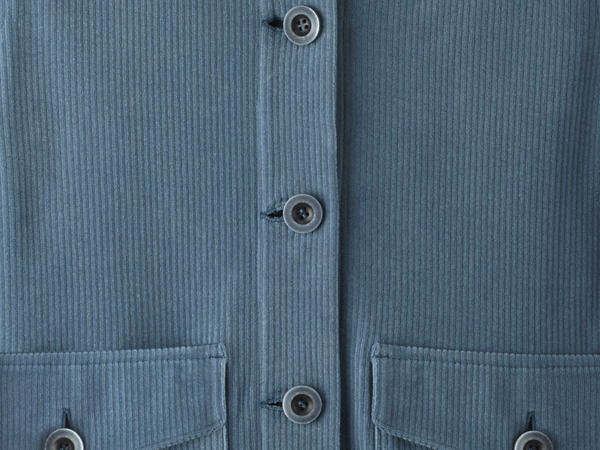 Cord overshirt made from pure organic cotton