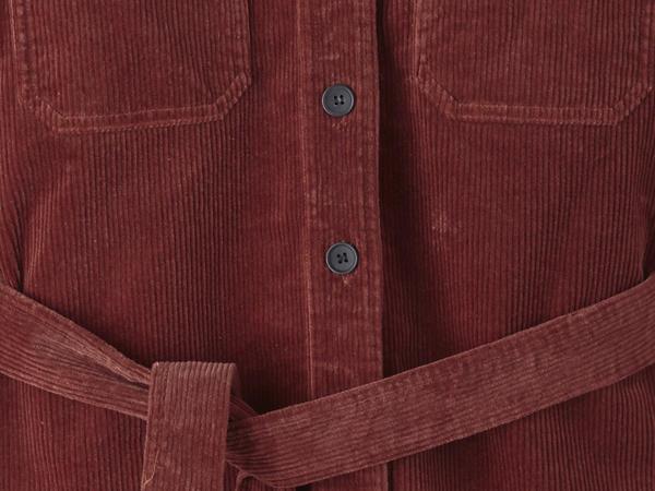 Cord overshirt made of organic cotton