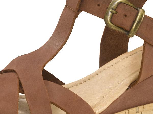 Damen Plateau-Sandalette aus Leder