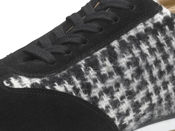 Damen Sneaker aus Leder und Schurwolle