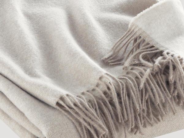 Decke Saas Fee aus Kaschmir und Merinowolle