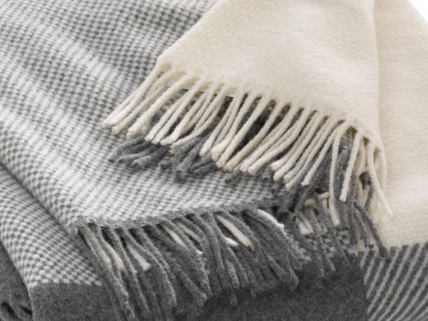 Decke aus Merinowolle mit Kaschmir