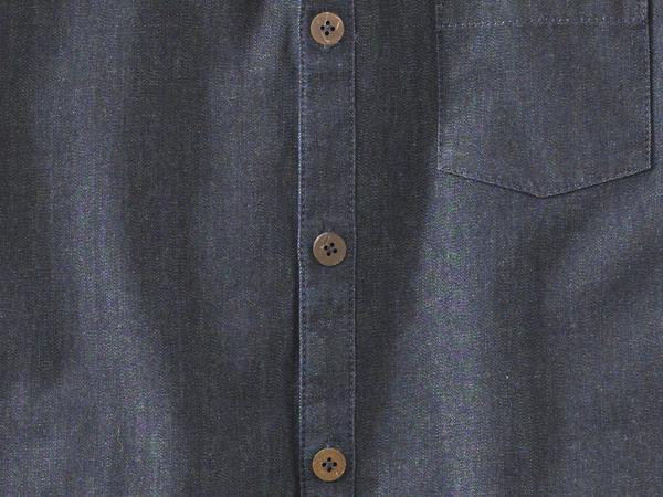 Denim shirt made from pure organic cotton