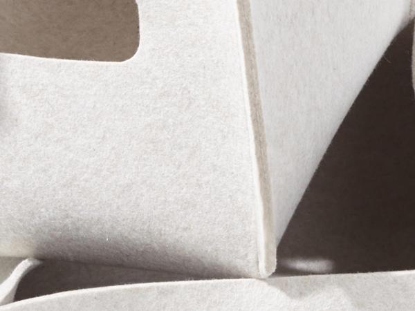 Filzkorb gross aus reiner Schurwolle
