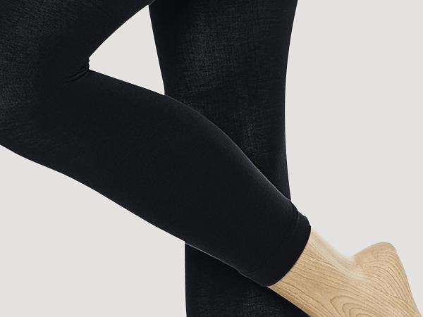 Fine stocking leggings made of organic cotton