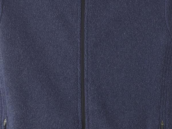 Fleece hooded jacket made of pure organic cotton