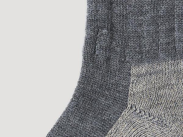 Functional socks made from organic merino wool with hemp