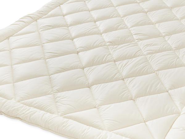 Ganzjahres-Bettdecke mit reiner Bio-Schurwolle