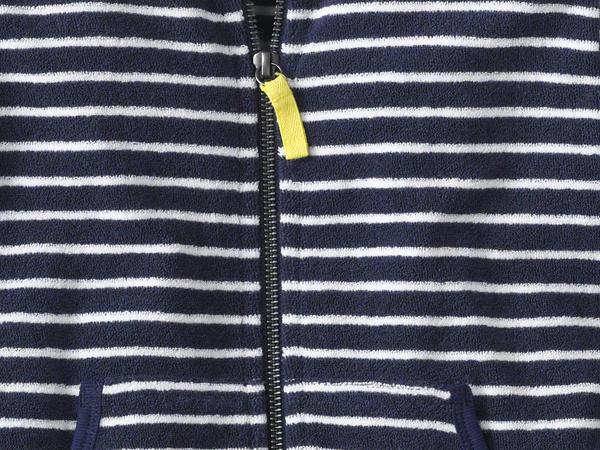 Geringelte Frottee Jacke aus reiner Bio-Baumwolle