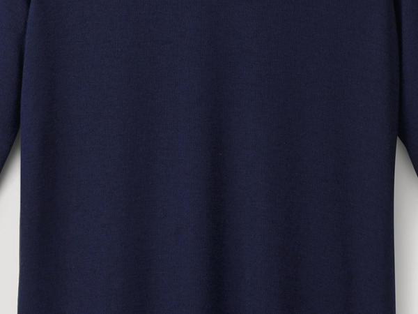 Halbarm-Shirt aus Modal mit Schurwolle