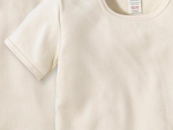 Half-sleeved shirt set of 2 made of pure organic cotton