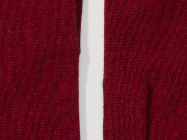 Handschuhe aus Schurwolle mit Kaschmir