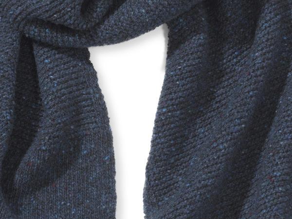 Herren Strickschal aus reiner Schurwolle