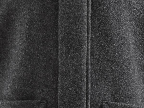 Herren Wollfleece-Kapuzenjacke aus reiner Schurwolle