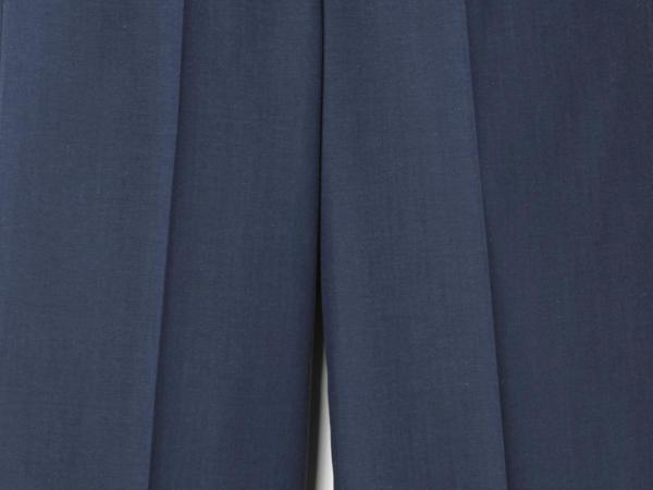 Hose Cropped Flared aus Bio-Schurwolle mit Bio-Baumwolle