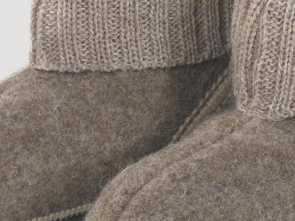 Hüttenschuh aus reiner Rhönwolle