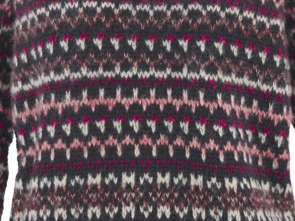 Jacquard-Pullover aus Alpaka mit Seide und Mohair