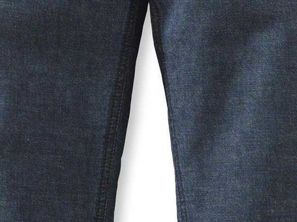 Jeans-Culotte aus Bio-Baumwolle mit Leinen
