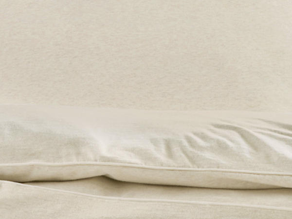 Jersey-Bettwäsche Liam aus reiner Bio-Baumwolle