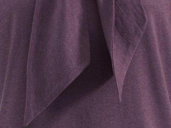 Jersey-Bluse aus Bio-Baumwolle mit Schurwolle