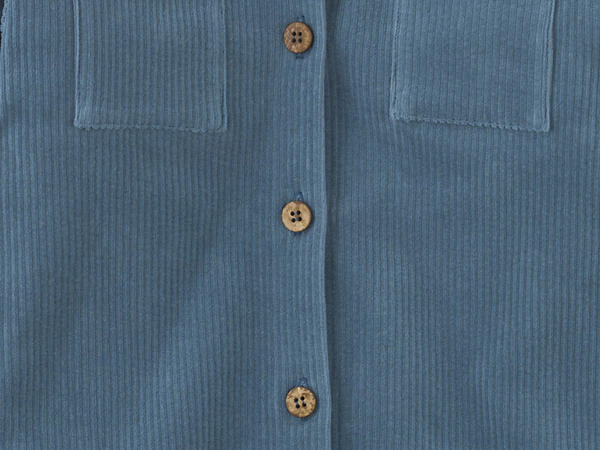 Jersey corduroy shirt jacket made from pure organic cotton