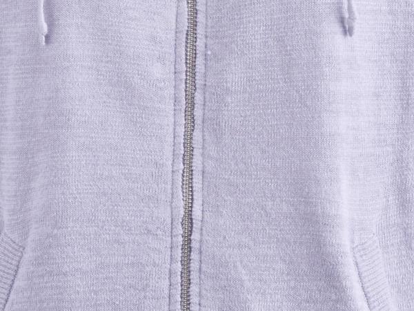 Kapuzen-Strickjacke aus Leinen mit Bio-Baumwolle