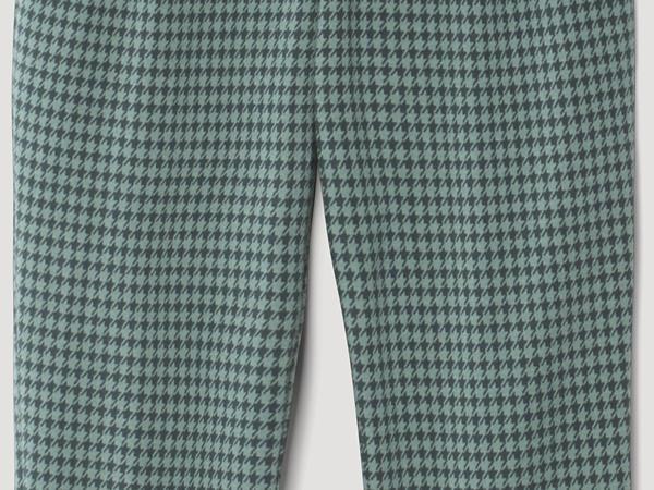Karierte Jerseyhose aus Bio-Baumwolle