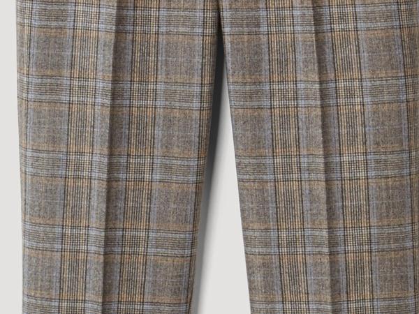 Karo-Hose aus reiner Schurwolle
