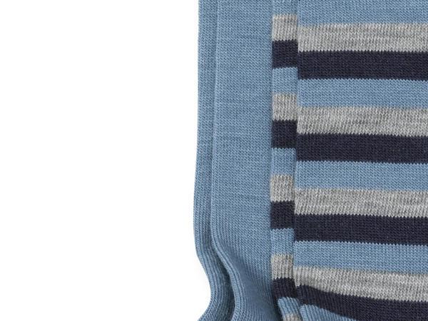 Kniestrümpfe 2er-Pack aus Schurwolle mit Baumwolle