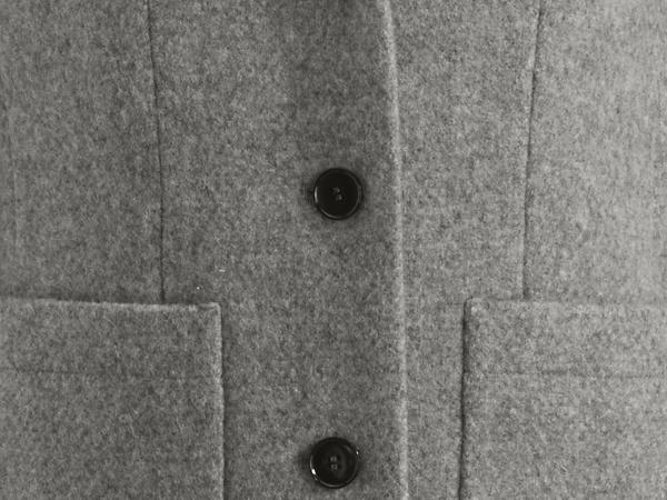 Kurzmantel aus reiner Schurwolle