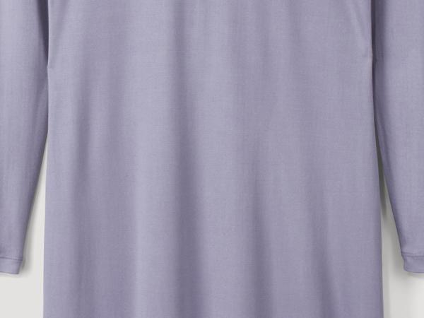 Langarm-Nachthemd aus reiner Bio-Seide