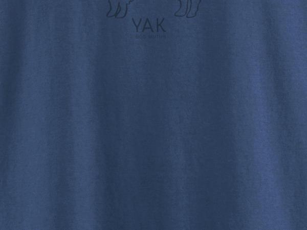 Langarm-Shirt aus Bio-Baumwolle mit Yakwolle