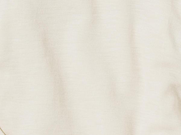 Langarm-Shirt aus Bio-Merinowolle mit Seide