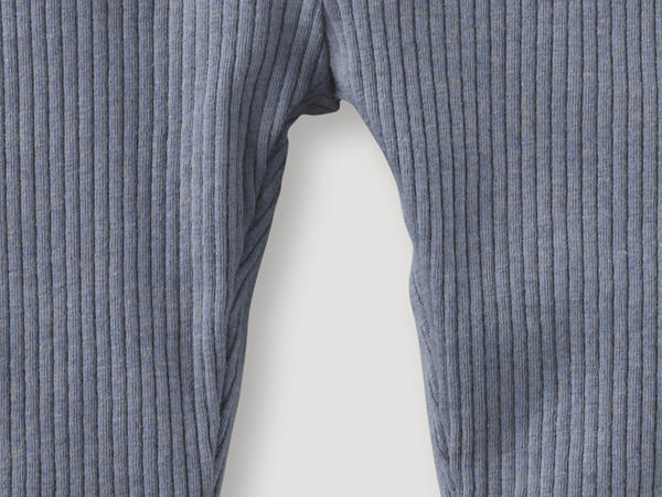 Leggings made of organic cotton with virgin wool